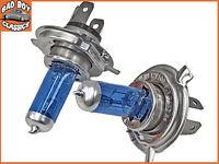 H4 55W XENON Superwhite Halogen Car Headlight Bulbs x2