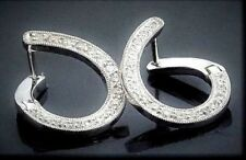 Diamond White Gold Not Enhanced Fine Earrings