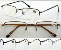 L251 Semi Rimless Bifocal Reading Glasses & Spring Hinges & Classic Style Design