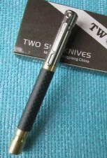 New Twosun Carbon Fiber BRASS Titanium Tactical Office Pocket Pen TS-PEN06