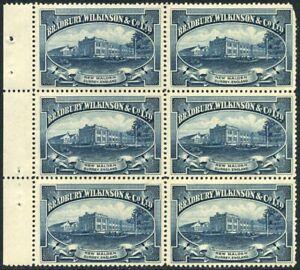 1924 KGV Bradbury Wilkinson & Co Dummy Printers Label Booklet Pane - Rare!