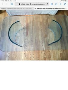 custom starfire contemporary glass coffee table, matching dining table