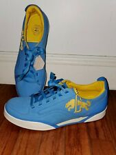 Puma Rudolf Dassler Blue and Yellow Shoes Size 10 US  Rare Extra Laces