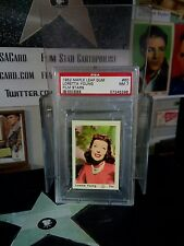 1953 Maple Leaf Gum #60 Loretta Young PSA 8 (Pop. 1 Record Grade) AFI's Top 100