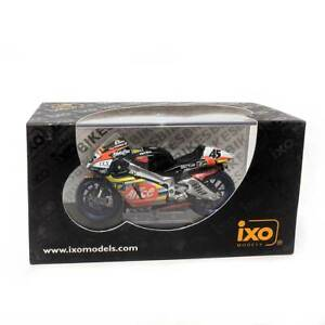IXO Models Mini Motorcycles: Aprilia RS3 #45 C. Edwards MotoGP 2003 1/24 Scale