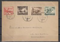 G3339/ GERMANY / JERSEY GERMAN OCC – 1944 MIXED FRANKING COVER
