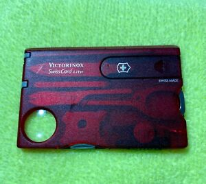 Victorinox Swiss Army SWISS CARD LITE Red Item number 0.7300.T Swiss Made