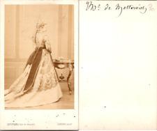 CDV Levitsky, Paris, La Princesse Pauline de Metternich, circa 1867 Vintage CDV