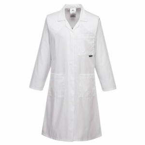Portwest LW63 Standard Women's Coat Ladies Lab Work Doctors Medical White Coat