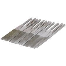 "Ultrasonic Diamond Flat File Set Glass Deburring 1/8"" Shank 140-400 Grit 12Pcs"