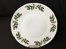 "JRJS CLUJ Romanian 10"" Christmas Dinner Plates Holly & Red Berries"