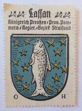 Reklamemarke-Kaffee Hag, Wappen von Lassan, Königreich Preußen 1910 ♥ (66283)
