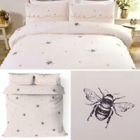 Pink Duvet Covers Bumblebee Love Heart Bee Mine Blush Quilt Cover Bedding Sets