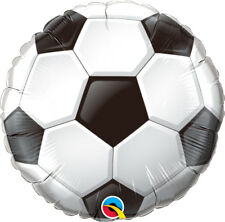 "SOCCER BALL PARTY SUPPLIES 18"" QUALATEX FOOTBALL FOIL BALLOON"