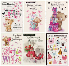 FEMALE RELATIONS BIRTHDAY CARD VARIOUS DESIGNS 1ST CLASS P&P GREAT VALUE!