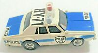 Aurora AFX HO Slot Car Chevy Impala Police Car Blue White Tested Lights Work x