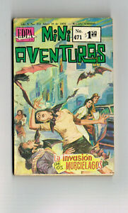 MINI AVENTURAS #471 LA INVASION DES LOS MURCIELAGOS MEXICO 1976 HORROR COMIC