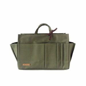 NEW Waterproof Sturdy Tidy Bag Purse Insert Organiser for Anybag - Olive, M-XXL