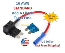 1 Set STANDARD Add-A-Circuit Fuse Tap Holder 16 AWG Gauge Car Auto Truck +15 Amp
