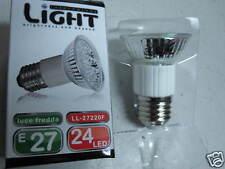 LAMPADA e27 LAMPADINA 24 LED FARETTO 1W  A RISPARMIO ENERGETICO x BASSO CONSUMO