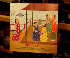 John Lim, Usually Nice 1980' Oriental Heavy Paper Print