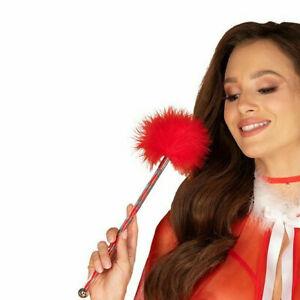OBSESSIVE Santasia Luxury Super Soft Decorative Playful Red Tickler
