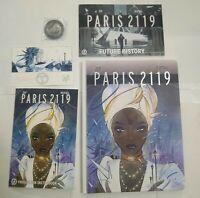 Paris 2119 Hard Cover Edition GN Kickstarter Peach Momoko Set
