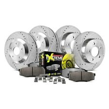 Power Stop K3055 Front Ceramic Brake Pad and Cross Drilled//Slotted Combo Rotor One-Click Brake Kit