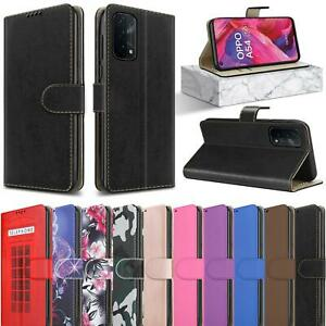 For OPPO A54 A74 A94 5G Case Slim Leather Wallet Magnetic Flip Stand Phone Cover