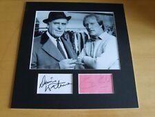 Minder George Cole & Dennis Waterman Genuine authentic autographS - UACC/AFTAL