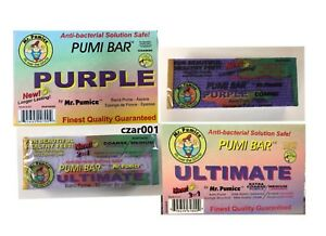 Mr. Pumice Anti-Bacterial Solution SAFE Purple Pumi Bar Stone -  COARSE OR 2-1