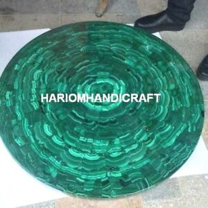 Malachite Dining Marble Table Top Random Interior Restaurant Inlay Decorate M227