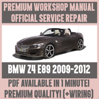 WORKSHOP MANUAL SERVICE & REPAIR GUIDE for BMW Z4 E89 2009-2012 +WIRING DIAGRAM
