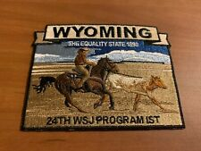 BSA, 2019 24th World Scout Jamboree Wyoming Administration IST Patch, Cowboy