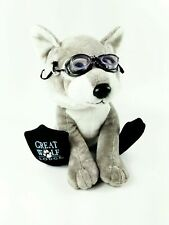 The Petting Zoo 2013 Great Wolf Lodge GRAY WOLF Plush Scuba Flippers Goggles HTF