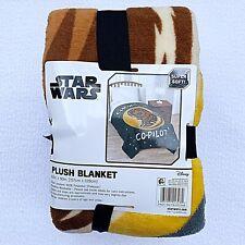 Star Wars Chewbacca Plush Twin Size Microfiber Blanket Throw Chewie Disney