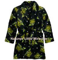 Baby Yoda Robe Boys Size 8 10 Star Wars Pajamas Mandalorian Bathrobe Medium NEW