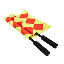 Soccer Referee Flag Fair Play Sports Match Linesman Flags Referee+Carry Bag SLG