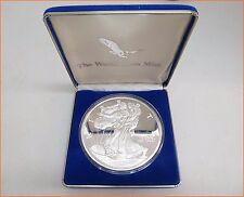 """8 oz .999 Silver """"1995 AMERICAN EAGLE SILVER WASHINGTON MINT"""" Art Round/Bar N 44"""
