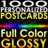 1000 CUSTOM PRINTED 3x5 PERSONALIZED 16pt Postcards Full Color UV Coated Gloss