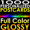 "1000 CUSTOM PRINTED 4x6 PERSONALIZED Postcards Full Color UV Coated Glossy 4""x6"""
