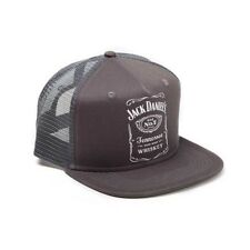 Jack Daniels - Printed Label Logo - Trucker Snapback Baseball Cap