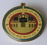 Dodgers Beat White Soxs In 6 World Title Baseball Pin Badge Rare Vintage (G10)