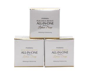 MOSBEAU Placenta White All-in-one Premium Lotion Soap 100g (Trio Set)