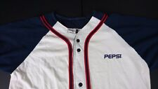 Vintage Pepsi Baseball Softball Men Large Shirt Badger Sport USA *FLAWED P