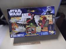 Star Wars The Clone Wars Republic Attack Shuttle 2 Modes in 1 w/ Clone Pilot New