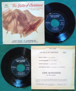 """7""""45 Giri Eddie Dunstedter At The Console The Bells Of Christmas ITALY natale"""