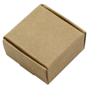 Kraft Paper Packaging Box Arts Crafts Jewelry Gift Brown Paper Folding Boxes