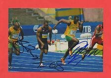 3 ORIG. autografi USAIN BOLT + Asafa Powell + Tyson Gay!!! Top rarità