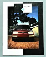 "ORIGINAL 1993 VOLKSWAGEN GOLF GL SALES BROCHURE ~ 8.5"" X 11"" ~ 12 PAGES ~ 93VWG"